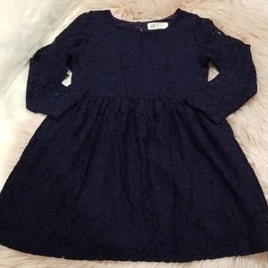 Girls Dress Navy Blue H&M (NWOT)